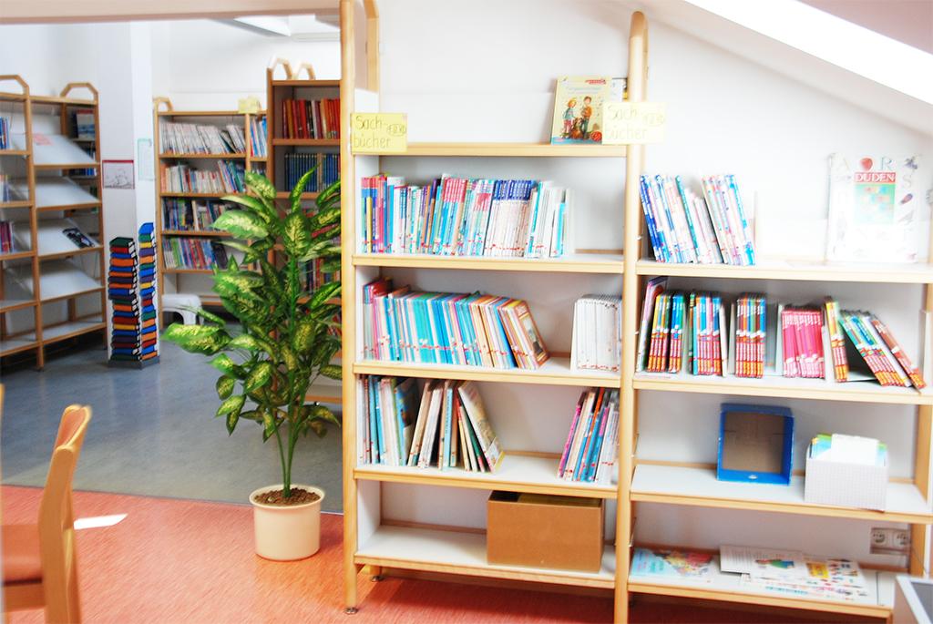Schülerbücherei in der Mangfallschule Kolbermoor