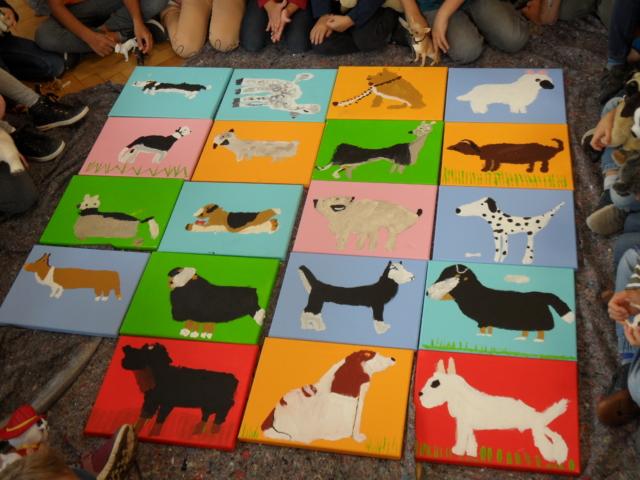 """Kinder treffen Künstler"" an der Mangfallschule"